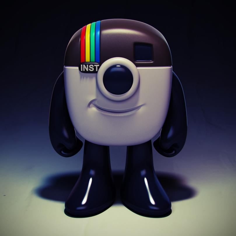 Instagram Mascot Vinyl Toy Design