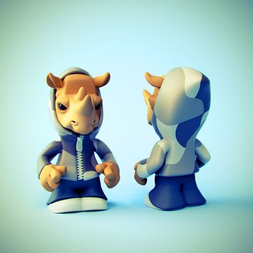 Urban Rhino Vinyl Toy Design