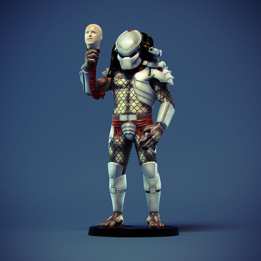 3d Predator Statue SDCC