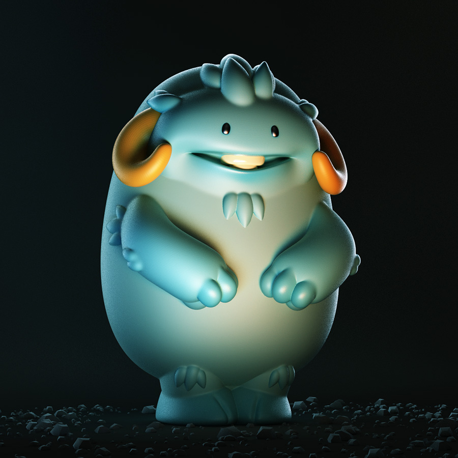 Shinbone creative free monster 3d model for Monster 3d model