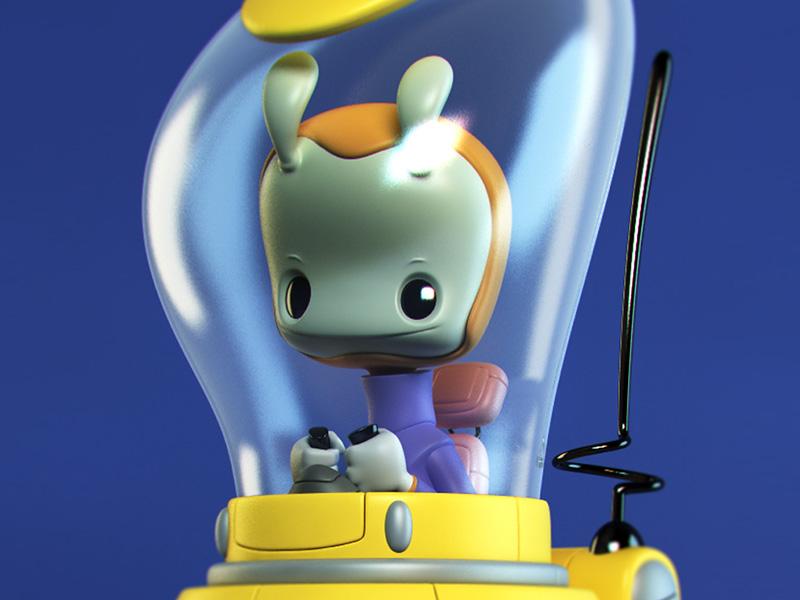 Robot and Alien Figure