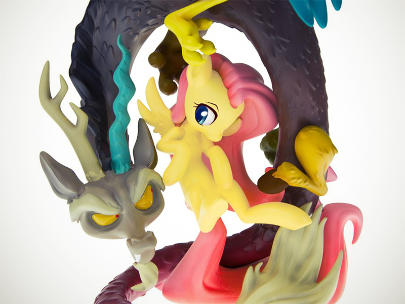 MLP Fluttershy and Discord Resin Statue