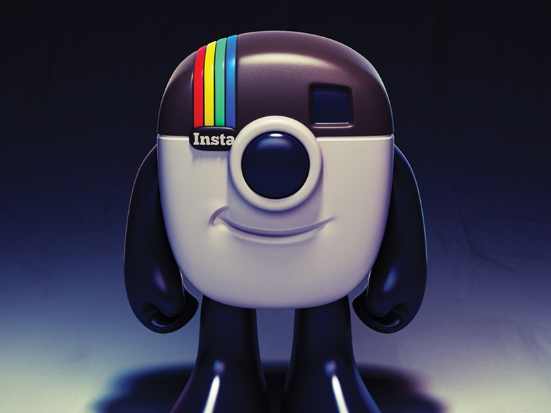 Instagram Logo Mascot Toy Design